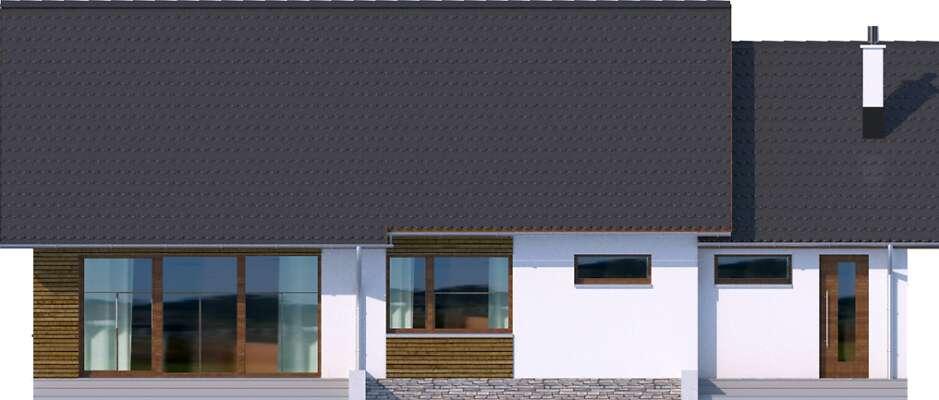 Elewacja ogrodowa - projekt Royan III