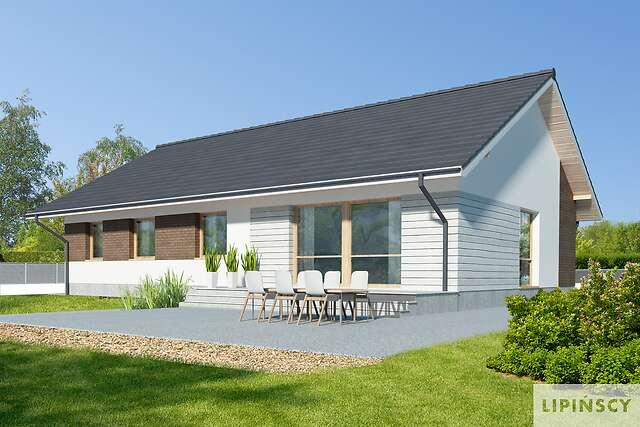 Zobacz powiększenie wizualizacji ogrodowej - projekt Arosa II