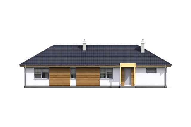 Zobacz powiększenie elewacji ogrodowej - projekt Itaka III