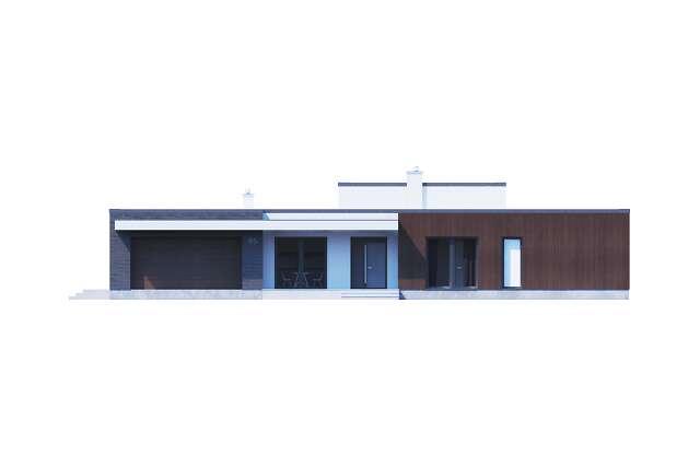 Zobacz powiększenie elewacji ogrodowej - projekt Vitrac