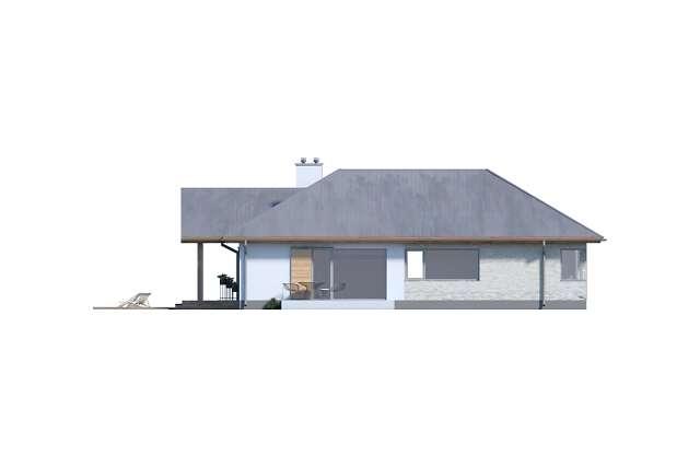 Zobacz powiększenie elewacji bocznej lewej - projekt Adelajda
