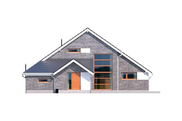 Zobacz powiększenie elewacji frontowej - projekt Lagos V