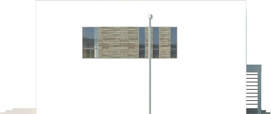 Elewacja boczna lewa - projekt Cork