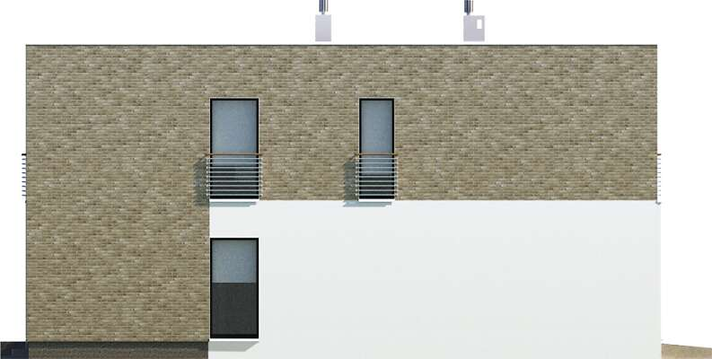 Elewacja boczna lewa - projekt Cork II