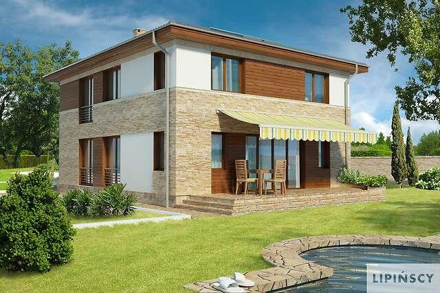 Zobacz powiększenie wizualizacji ogrodowej - projekt Siena