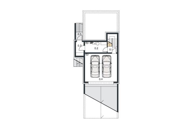 Zobacz powiększenie rzutu kondygnacji Piwnica - projekt Como