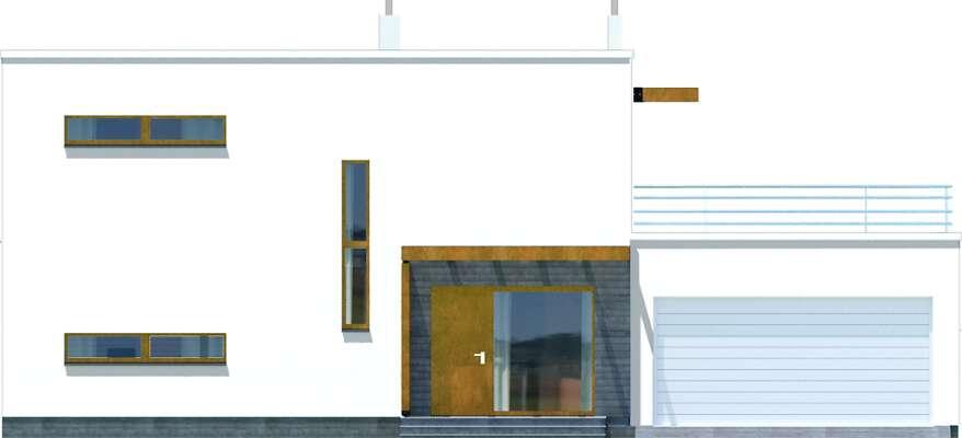 Elewacja boczna lewa - projekt Belfast II