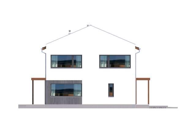 Zobacz powiększenie elewacji bocznej lewej - projekt Belfast VIII