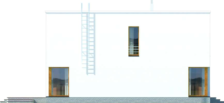 Elewacja boczna lewa - projekt Tottori