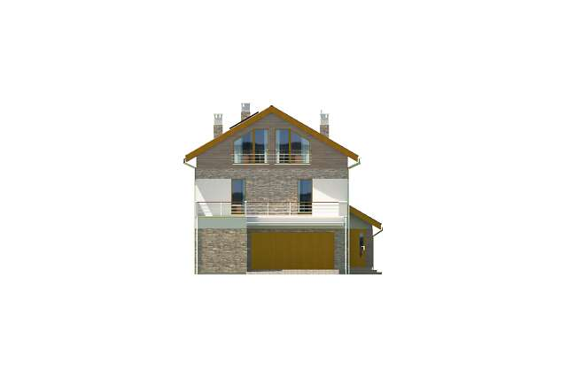 Zobacz powiększenie elewacji frontowej - projekt Locarno