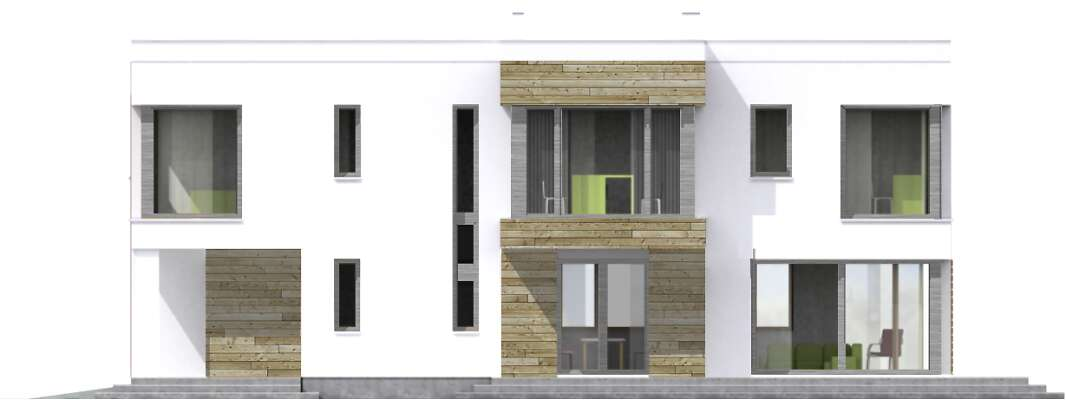 Elewacja boczna lewa - projekt Aarhus