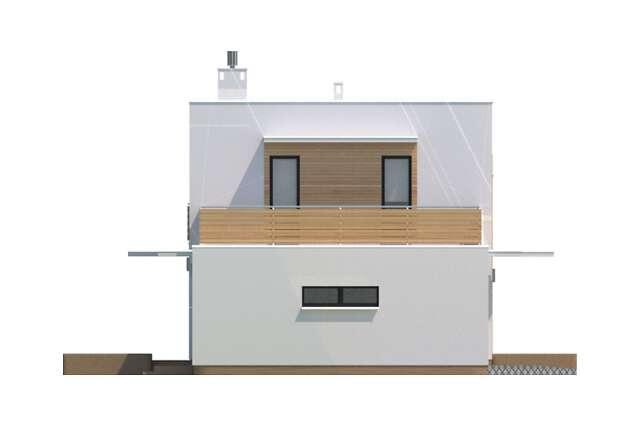 Zobacz powiększenie elewacji bocznej lewej - projekt Edynburg