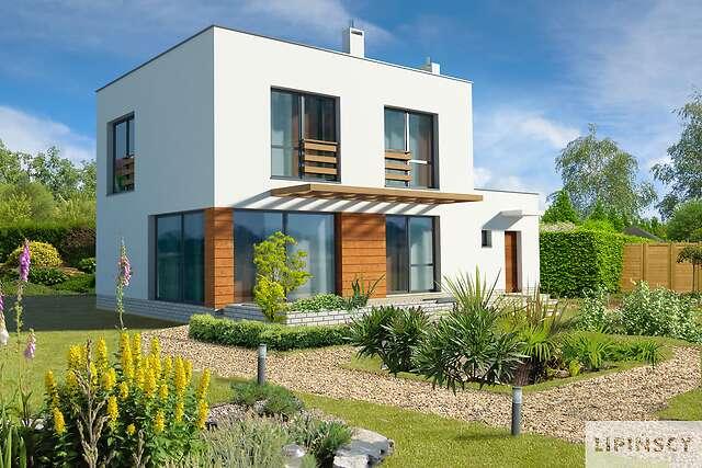 Zobacz powiększenie wizualizacji ogrodowej - projekt Edynburg II