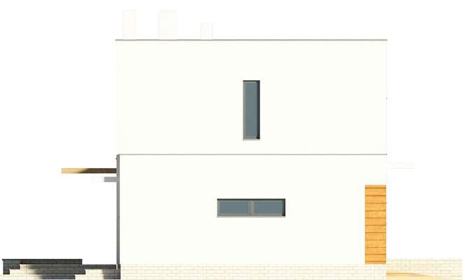 Elewacja boczna lewa - projekt Edynburg II