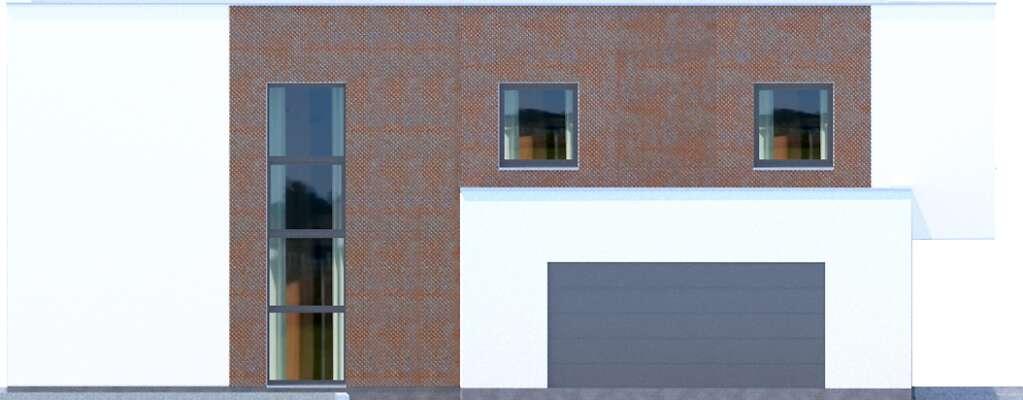Elewacja boczna lewa - projekt Delft IV