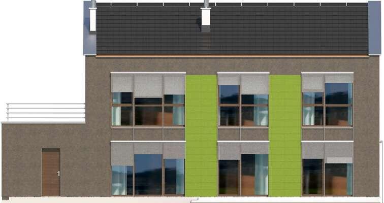 Elewacja ogrodowa - projekt Santos III