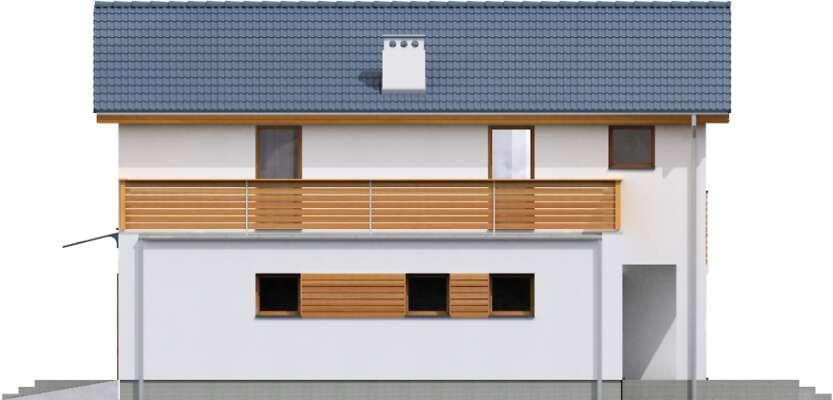 Elewacja boczna lewa - projekt Sendai