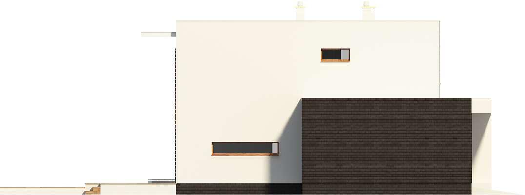 Elewacja boczna lewa - projekt Carrara