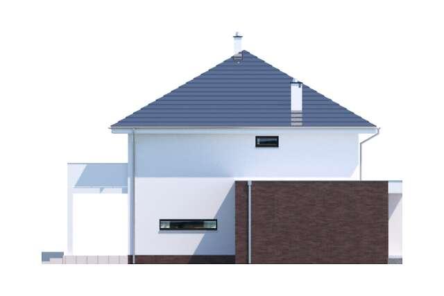 Zobacz powiększenie elewacji bocznej lewej - projekt Carrara II