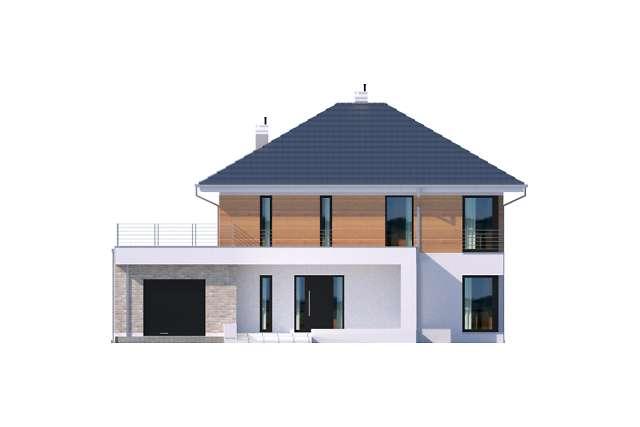 Zobacz powiększenie elewacji frontowej - projekt Carrara IV