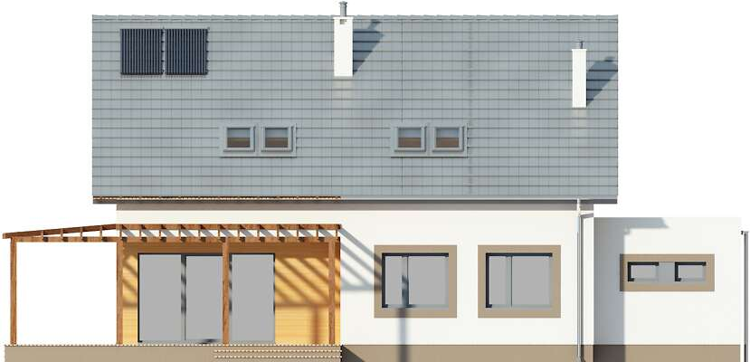 Elewacja ogrodowa - projekt Fulton