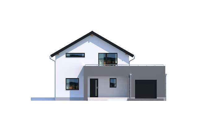 Zobacz powiększenie elewacji frontowej - projekt Bergamo III