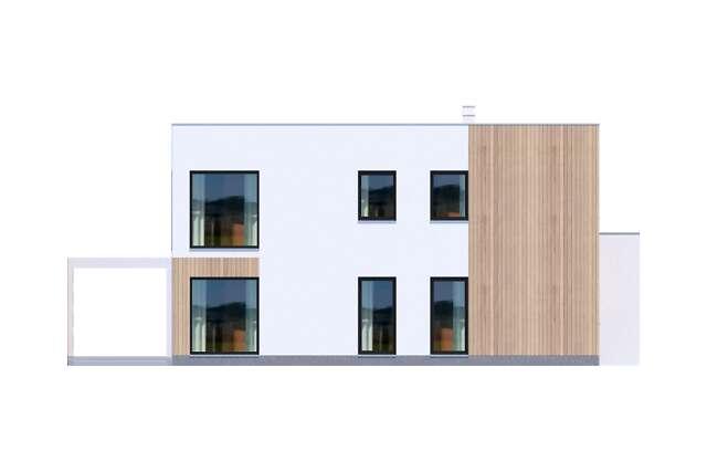 Zobacz powiększenie elewacji bocznej lewej - projekt Grenoble