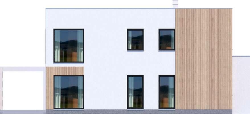 Elewacja boczna lewa - projekt Grenoble