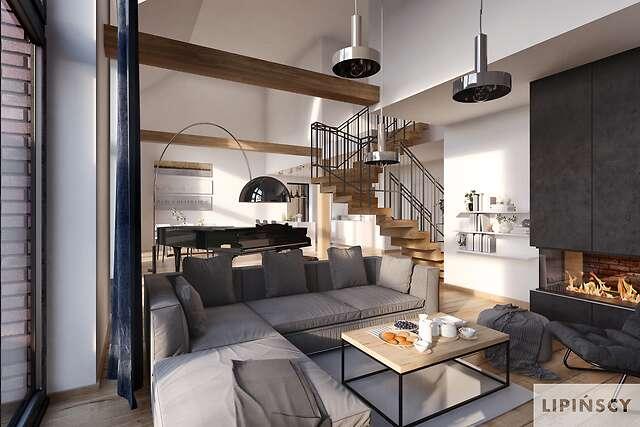 Zobacz powiększenie wizualizacji wnętrza - projekt Lund