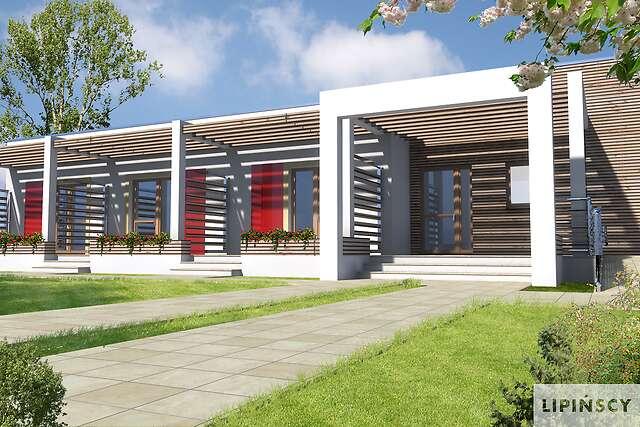 Zobacz powiększenie wizualizacji frontowej - projekt Budynek agroturystyczny Jesion