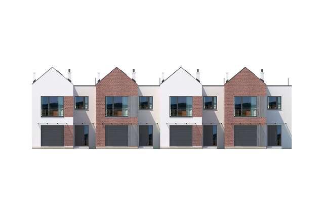Zobacz powiększenie elewacji frontowej - projekt Lakeland