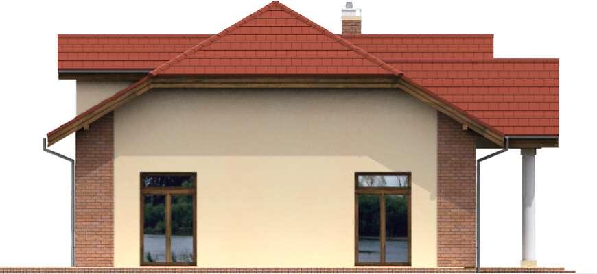 Elewacja boczna lewa - projekt Budynek usługowy Puchacz