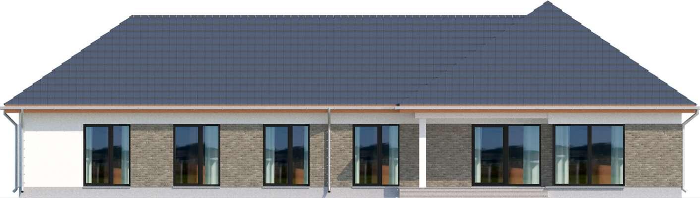 Elewacja ogrodowa - projekt Budynek usługowy Office 1
