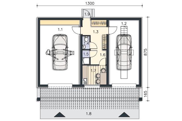 Projekt Domu Garaż Murator Uc40 Kup U źródła