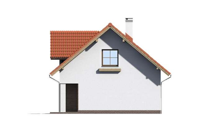 Zobacz powiększenie elewacji bocznej prawej - projekt Garaż