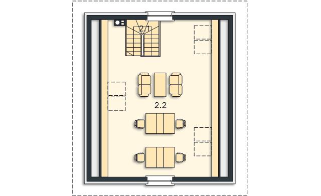 Rzut kondygnacji Poddasze - projekt Garaż