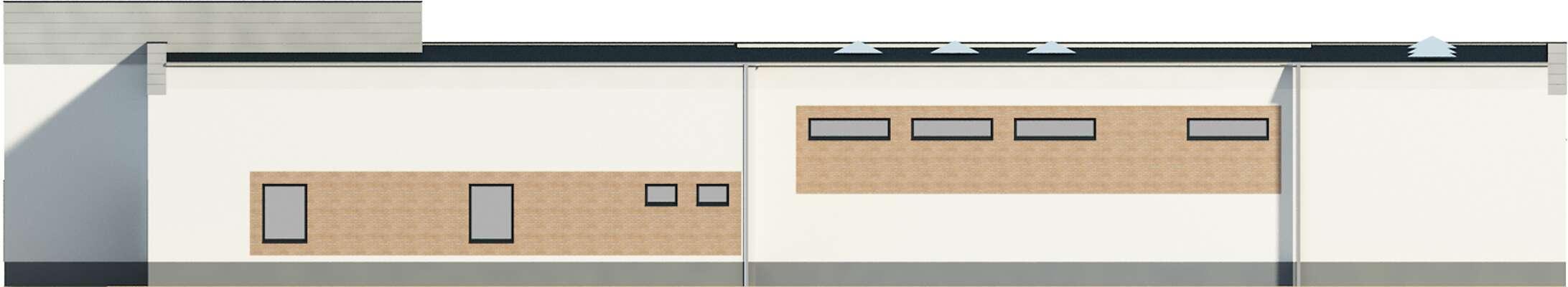 Elewacja ogrodowa - projekt Budynek usługowy