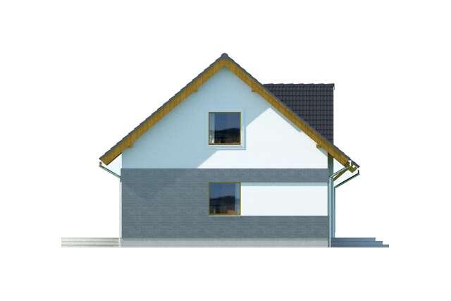 Zobacz powiększenie elewacji bocznej lewej - projekt Lipińscy Dom Pasywny 1