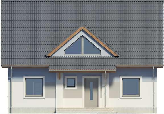 Elewacja frontowa - projekt Lipińscy Dom Pasywny 2