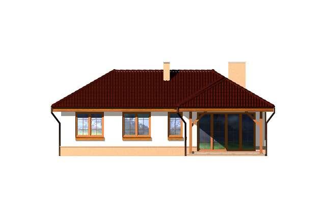 Zobacz powiększenie elewacji ogrodowej - projekt Warna