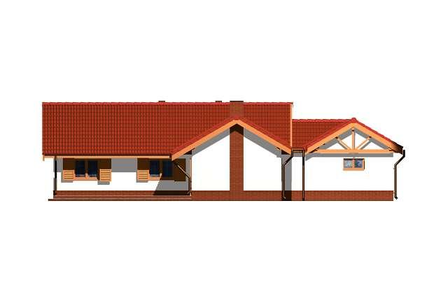 Zobacz powiększenie elewacji ogrodowej - projekt Annecy
