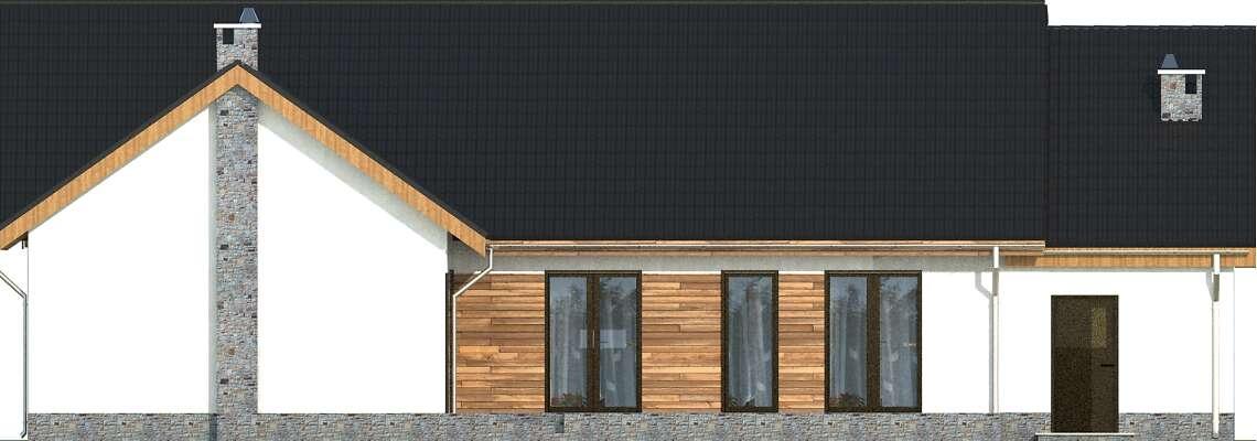 Elewacja ogrodowa - projekt Pampeluna II