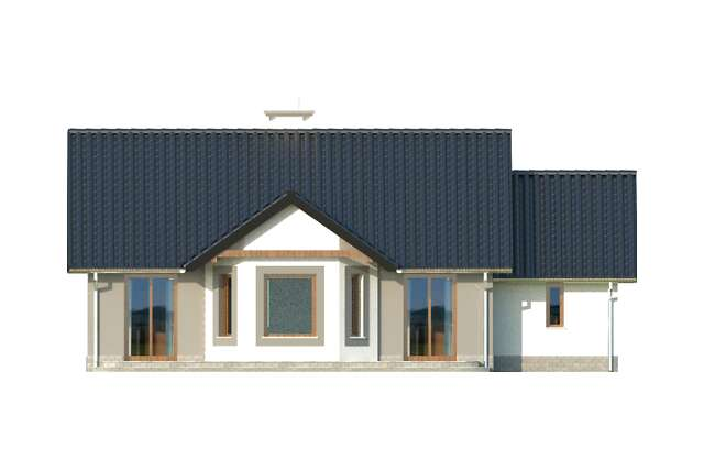 Zobacz powiększenie elewacji ogrodowej - projekt Lwów II