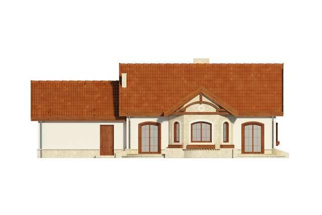 Zobacz powiększenie elewacji ogrodowej - projekt Sofia VI