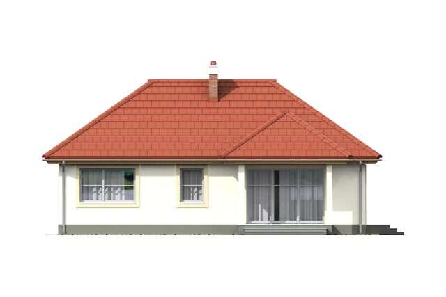 Zobacz powiększenie elewacji ogrodowej - projekt Corte II