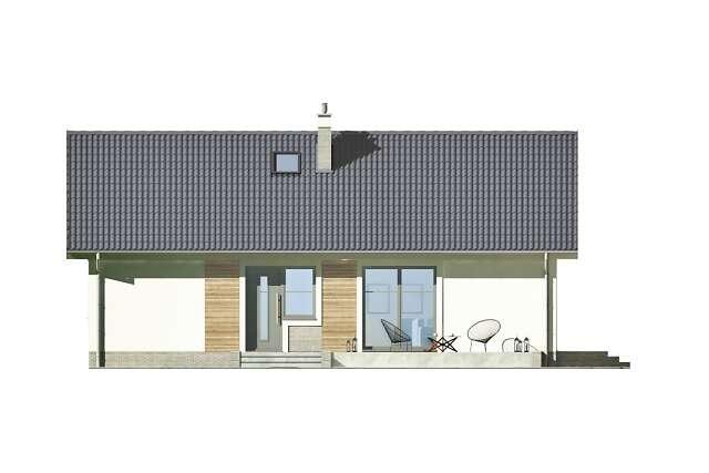 Zobacz powiększenie elewacji ogrodowej - projekt Corte IV