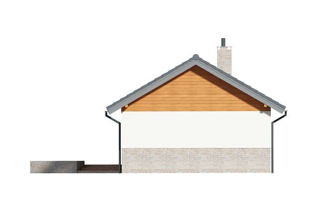 Zobacz powiększenie elewacji ogrodowej - projekt Lucca VIII