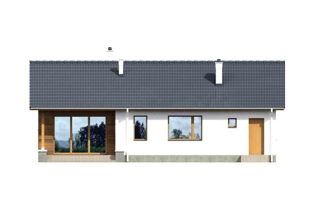 Zobacz powiększenie elewacji ogrodowej - projekt Vis III