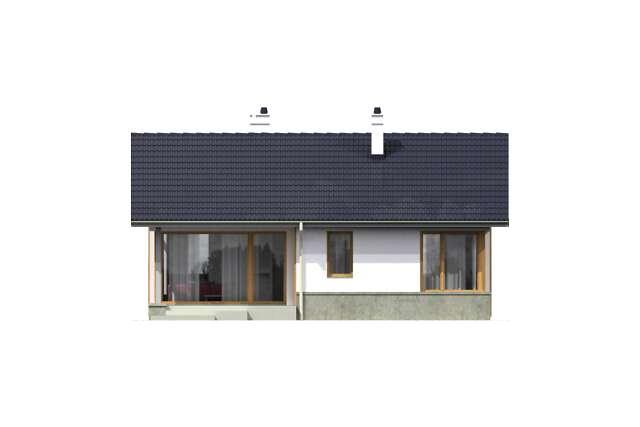 Zobacz powiększenie elewacji ogrodowej - projekt Todi