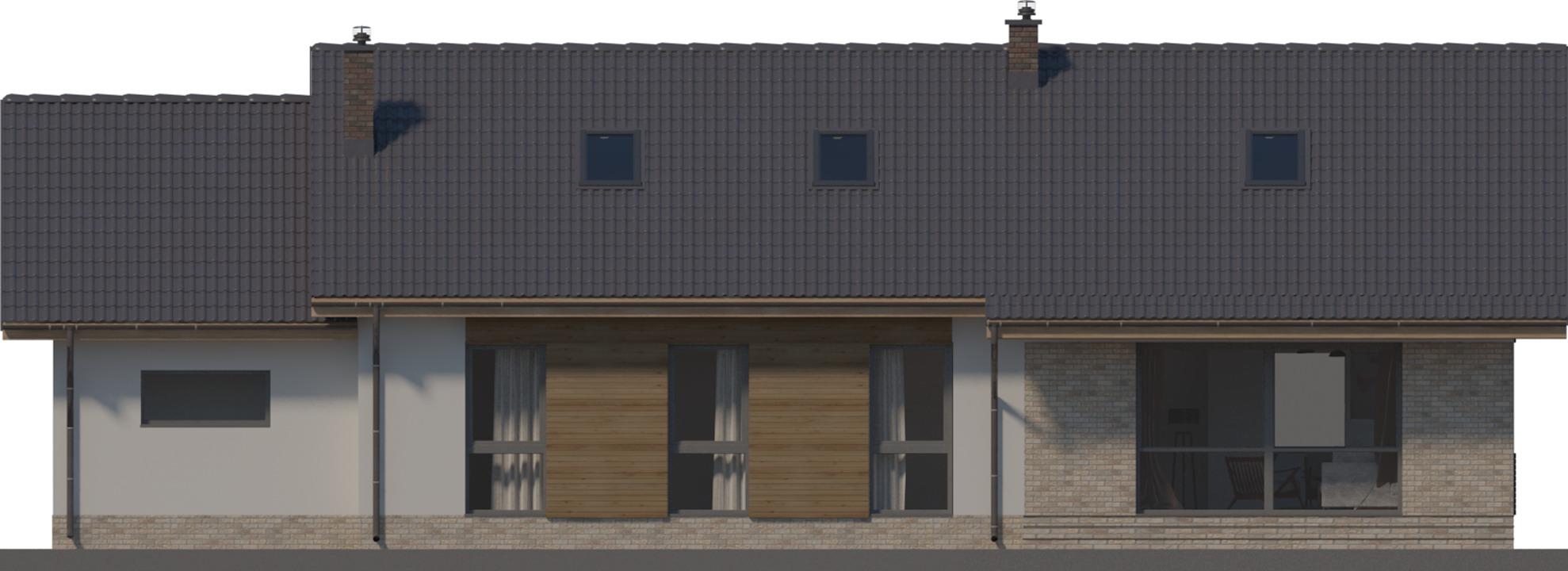 Elewacja ogrodowa - projekt Arosa III